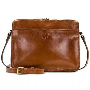 Patricia Nash Leather Crossbody Tan/Gold Bag